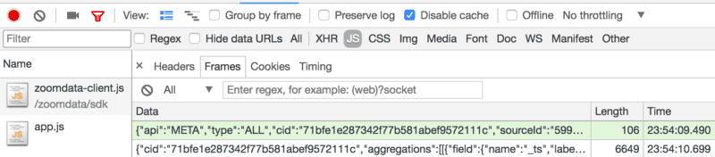 Getting Source MetaData with Zoomdata JavaScript SDK 2 6