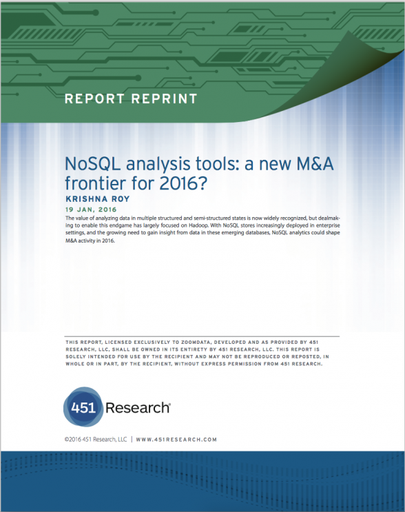 451 Research NoSQL Analysis Tools