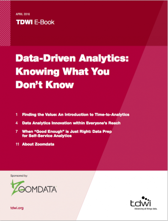 Data Driven Analytics Knowing What You Don't Know