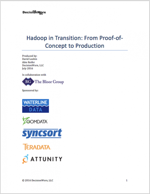 Hadoop in Transition