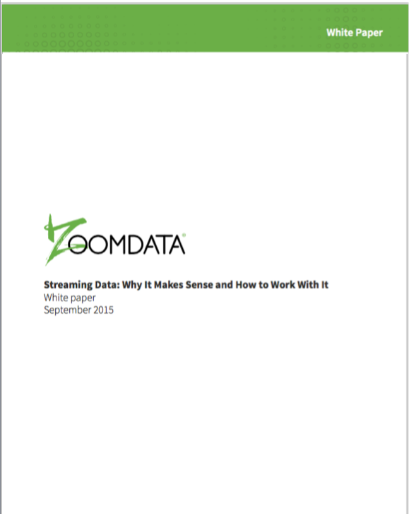 Real-Time Streaming Data White Paper