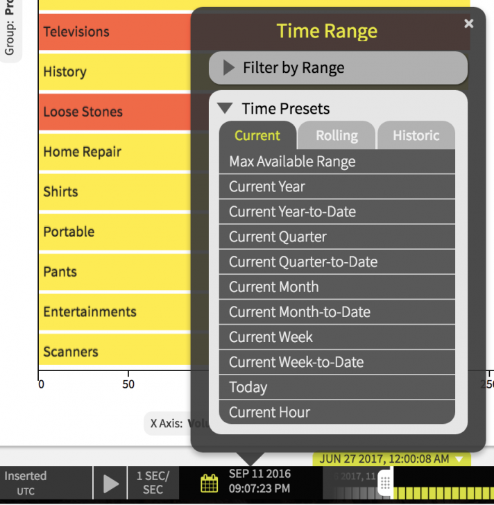 Data DVR Time Controls