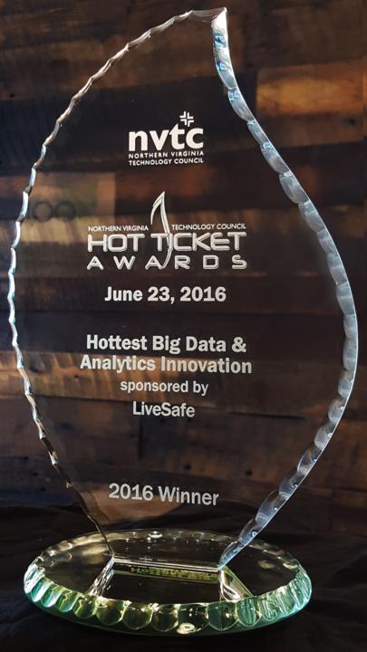 nvtc Hot Ticket Award for Big Data Innovation