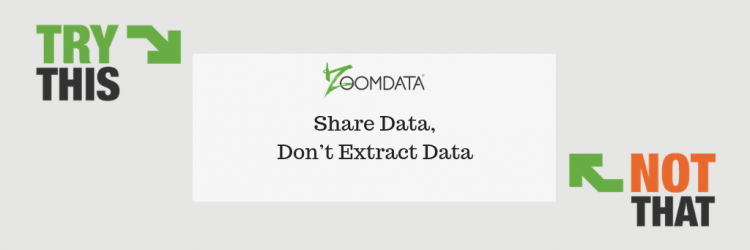 Share Data Don't Extract Data